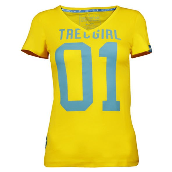Koszulka Trec Nutrition WOMEN'S TREC WEAR - TREC GIRL 004 - T-SHIRT/LEMON