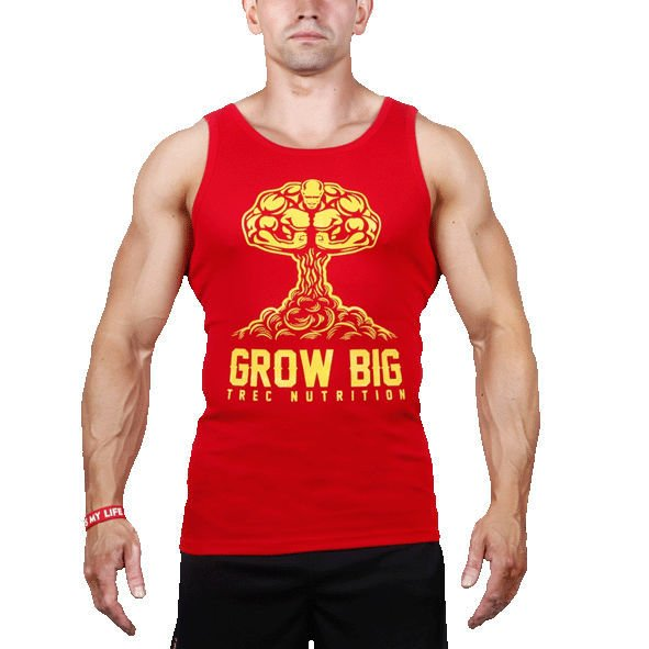 Koszulka Trec Nutrition MEN'S TREC WEAR - GROW BIG - TANK TOP 007/RED