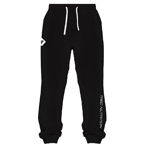 "Spodnie Trec Nutrition MEN'S TREC WEAR - SMALL WHITE LOGO ""T"" + ""TN"" - PANTS 026/BLACK"