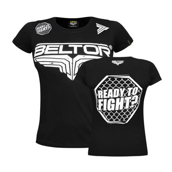 "Koszulka Beltor T-SHIRT FIGHT BRAND GIRL ""OCTAGON"" - CZARNA"