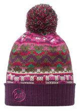 Buff Czapka Knitted Idriss Plum