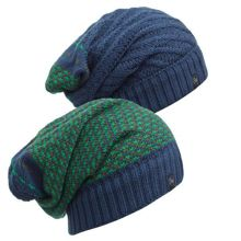 Buff Czapka dwustronna Knitted Neckwarmer Hat Zile Blue