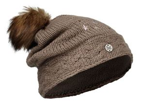 Buff Czapka juniorska Knitted & Polar DARSY BROWN