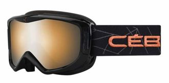 GOGLE CEBE LEGEND M BLACK CORAL ORANGE FLASH MIRROR