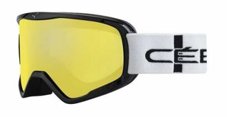 GOGLE CEBE STRIKER L BLACK STRIPES YELLOW FLASH MIRROR