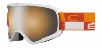 GOGLE CEBE STRIKER L ORANGE CHEQUERED ORANGE FLASH MIRROR