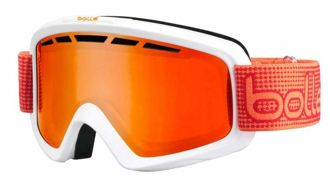 Gogle Bolle NOVA II MATTE WHITE ORANGE FIRE ORANGE