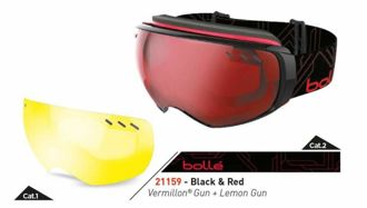 Gogle Bolle Virtuose Black & Red Vermillon Gun + Lemon Gun