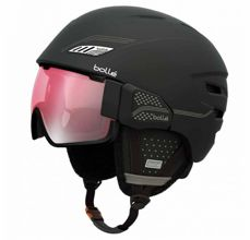 Kask BOLLE OSMOZ SOFT BLACK & GREY WITH MODULATOR ROSE GUN