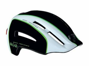 Kask miejski LAZER URBANIZE N'LIGHT black white green 52-57 cm rolsys