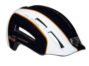 Kask miejski LAZER URBANIZE black white orange 58-61 cm