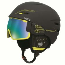 Kask narciarski Bolle Osmoz Soft Black & Green With Green Emerald Lens