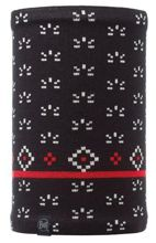 Komin Neckwarmer Buff Knitted Polar Fleece JORDEN BLACK