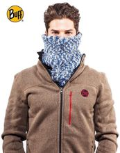 Komin Neckwarmer Buff Knitted Polar Fleece Laki Fossil