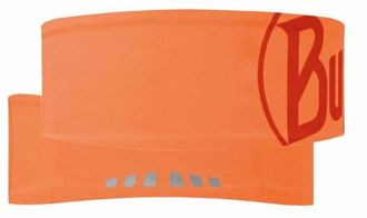 Opaska BUFF Headband Tech LOGO ORANGE FLUOR