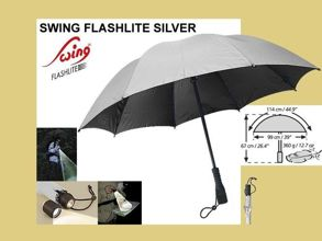 Parasolka EuroSchirm Swing Flashlite Silver