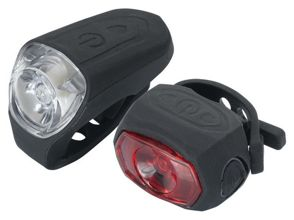 Zestaw lampek TORCH HIGH BEAMER 0.5W USB + TAIL BRIGHT 0.5W USB