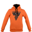 "Bluza Trec Nutrition MEN'S TREC WEAR - BLACK LOGO ""T"" - HOODIE 021/ORANGE"