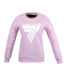 "Bluza Trec Nutrition WOMEN'S TREC WEAR - ""PINKY"" WHITE LOGO ""T"" - SWEATSHIRT 010/LIGHT PINK"