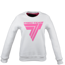 "Bluza Trec Nutrition WOMEN'S TREC WEAR - ""WHITE"" PINK LOGO ""T"" - SWEATSHIRT 012/WHITE"