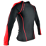 "Koszulka Trec Nutrition MEN'S TREC PROMO - SMALL RED LOGO ""T"" AND ""TN"" - RASH/LONG SLEEVE COMPRESSION/BLACK-RED"