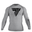 "Koszulka Trec Nutrition MEN'S TREC WEAR - BIG BLACK LOGO ""T"" - RASH 007/LONG SLEEVE/GRAY"