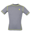"Koszulka Trec Nutrition MEN'S TREC WEAR - SMALL YELLOW LOGO ""T"" + STITCHING - RASH 011/SLEEVE/GRAY"