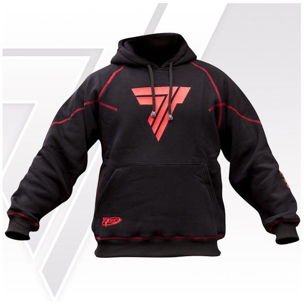 "Bluza Trec Nutrition MEN'S TREC PROMO - RED LOGO ""T"" - HOODIE/BLACK"
