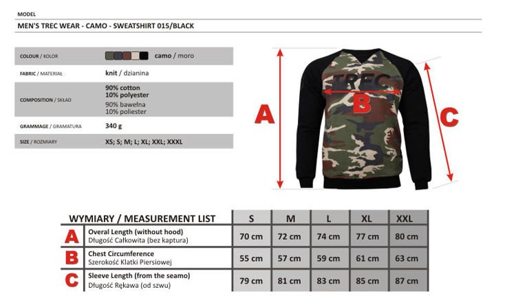 Bluza Trec Nutrition MEN'S TREC WEAR - CAMO - SWEATSHIRT 015/BLACK