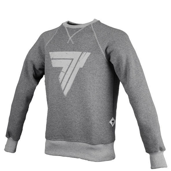 "Bluza Trec Nutrition MEN'S TREC WEAR - ""GREYNESS"" GREY LOGO ""T"" - SWEATSHIRT 007/GREY"