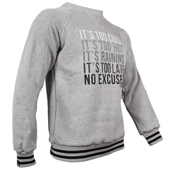 Bluza Trec Nutrition MEN'S TREC WEAR - NO EXCUSE - SWEATSHIRT 013/MELANGE