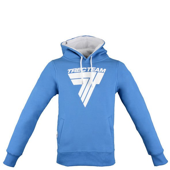 "Bluza Trec Nutrition MEN'S TREC WEAR - WHITE LOGO ""T"" - HOODIE 027/BLUE"
