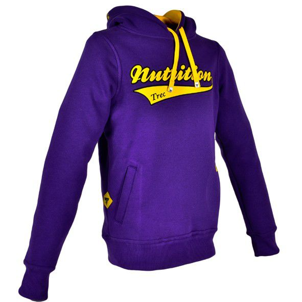 "Bluza Trec Nutrition MEN'S TREC WEAR - YELLOW LOGO ""TN"" - HOODIE 003/REGULAR/PURPLE"