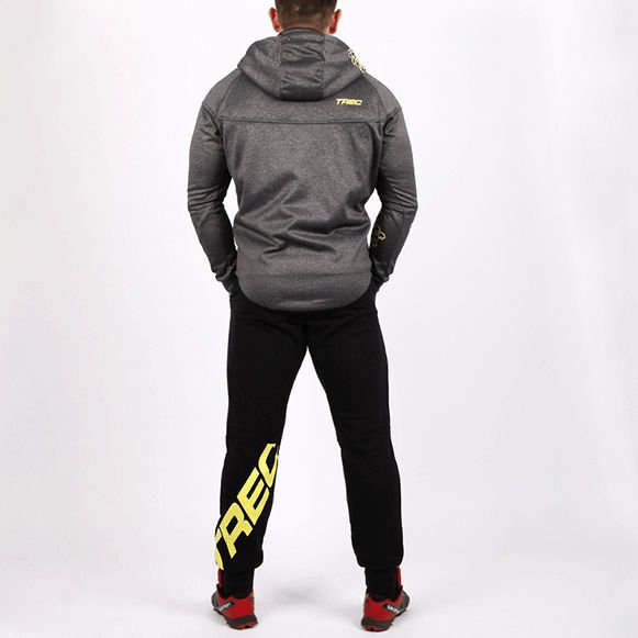 Bluza Trec Nutrition MEN'S TREC WEAR - ZIP 002 - HOODIE/DARK-GREY-MELANGE