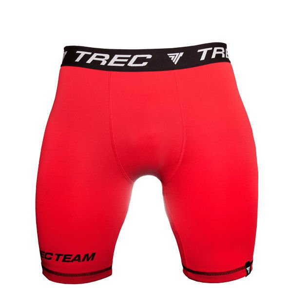 Bokserki Trec Nutrition MEN'S TREC WEAR - SMALL BLACK LOGO T + TREC TEAM - PRO SHORT PANTS 006/RED