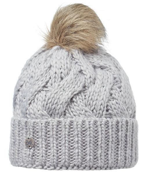 Buff Czapka Knitted Nadia Chic Grey