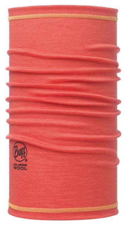 Chusta Buff 3/4 Merino Wool Buff SOLID CORAL