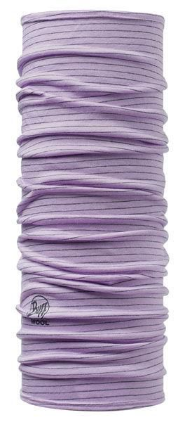 Chusta Dyed Stripes Wool Buff LAVENDER MIST
