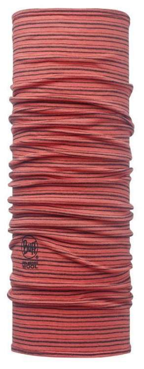Chusta Merino Wool Buff CORAL STRIPES