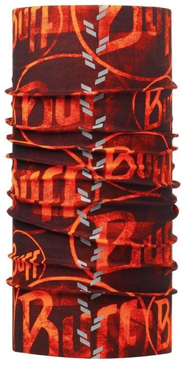 Chusta Reflective Buff® R-MULTI LOGO ORANGE FLUOR