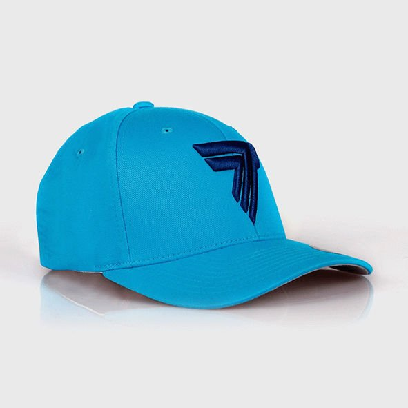 "Czapka Trec Nutrition FULLCAP 016 - BLUE LOGO ""T"" - SEA BLUE"