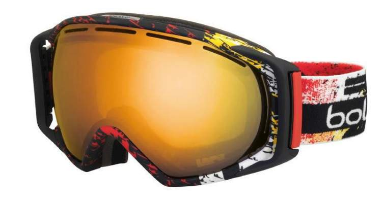 Gogle Bolle Gravity Black & Red Zenith Citrus Gold