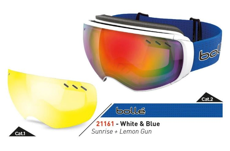 Gogle Bolle Virtuose White & Blue Sunrise + Lemon Gun