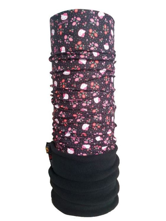 Junior Polar Buff Hello Kitty FLOWERS BLACK