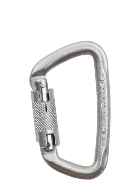 Karabinek Climbing Technology D-Shape Steel Twist Lock - zinc plated
