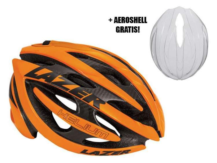 Kask szosa LAZER HELIUM L flash orange roz.57-60 cm + aeroshell