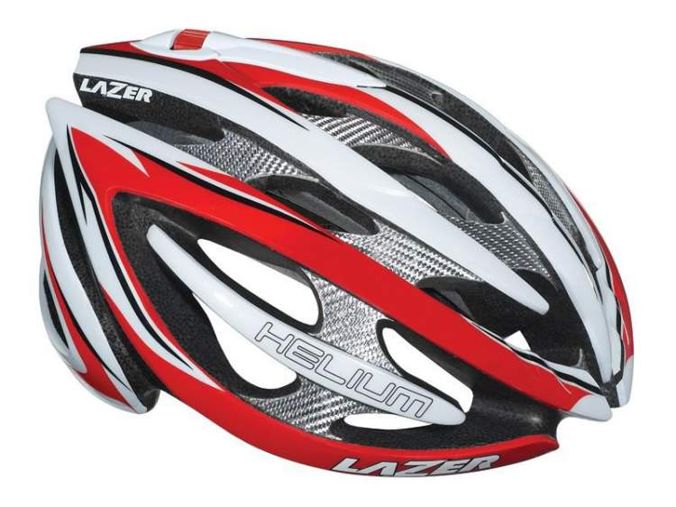 Kask szosa LAZER HELIUM XL team red white 61-64 cm