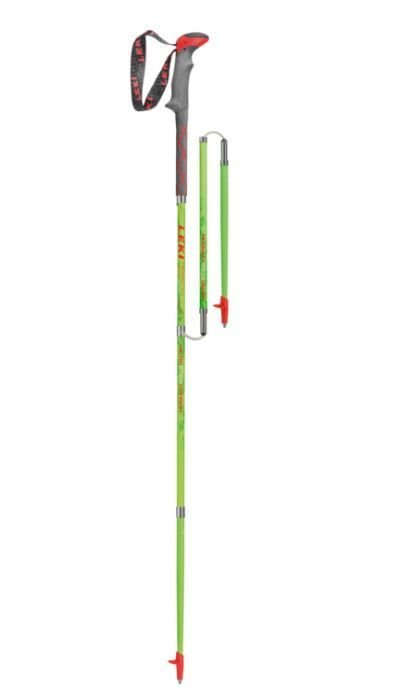 Kije trekkingowe Leki Micro Stick Carbon green-red 120