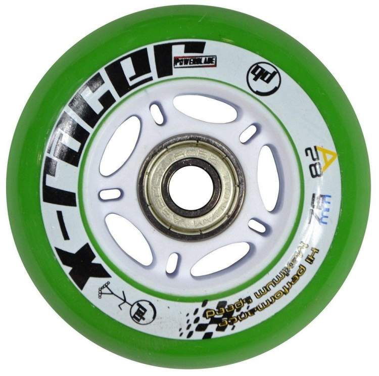 Kółka do rolek Powerblade Green 72 mm
