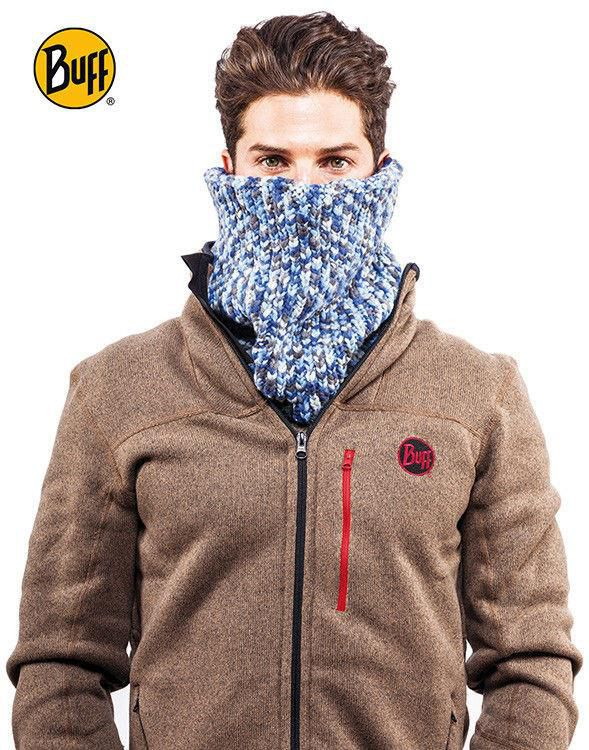 Komin Neckwarmer Buff Knitted Polar Fleece CARBUNE